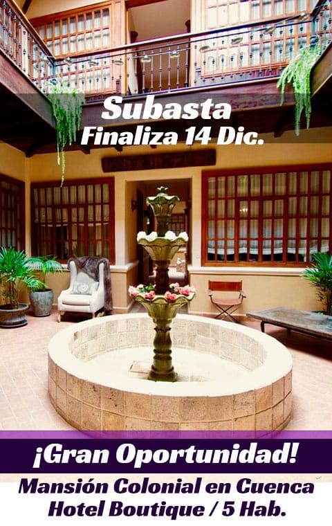 Subasta - Mansión Colonial Hotel Boutique de Venta en Cuenca