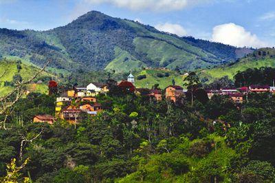 Ecuador Countryside House Landscape Mountain View