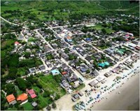 Olón - Overhead view of the town