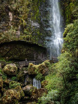 Lush Tropical Climate with Abundance of Water for Growing Food - Waterfall near Girón Ecuador