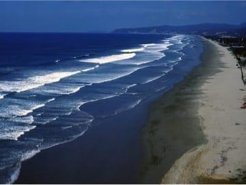 Olón - View of the beach