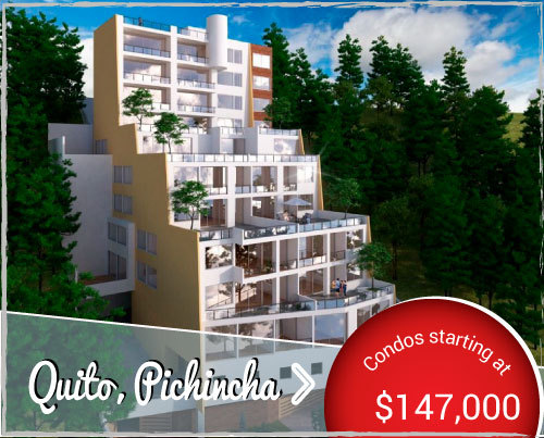 New condos for Sale in quiet neighborhood of Quito with Stunning Views and All the Amenities