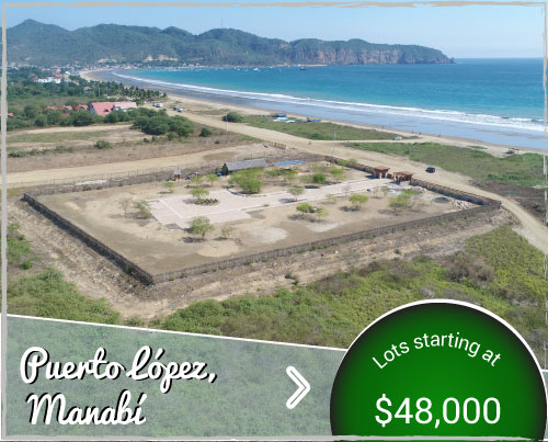 Los Algarrobos Puerto López - Beachfront Lots for Sale