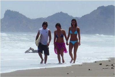 Olón - Caminando la playa