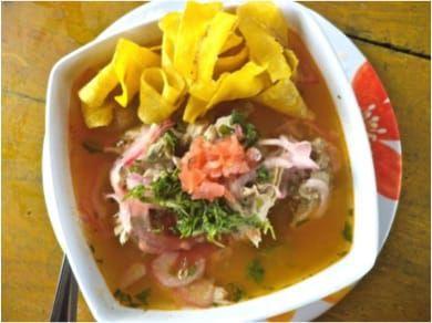Olón - Sopa comida de la costa